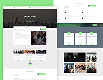 Event. One Page Landing Page