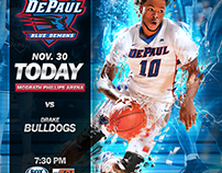 Men's Basketball Gameday banner design