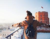 I am here in Vilnius postcards