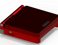 Red Game Boy Advance SP