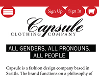 Capsule Clothing Co. Mobile Site