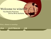 Winebid website design