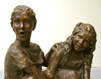 Custom Life-size Bronze Children's Portraits & Statues