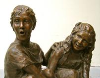 Custom Life-size Bronze Children's Portraits & Statues