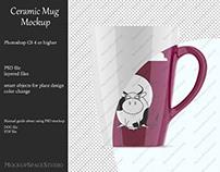 Ceramic mug mockup. Product place.