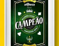 Troféu/quadro - Premiação torneio de Poker.