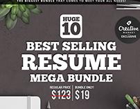 10 Best Selling Resume Mega Bundle
