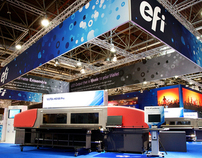 EFI 10,000 sq ft Tradeshow Booth at Drupa, Germany