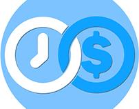 UI/UX design for MoneyTimer mobile app