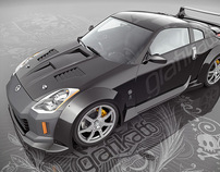 Nissan 350Z - 3D Model + Vinyl Designs