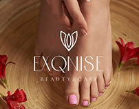 Beauty and care cosmetics luxury logo - EXQNISE