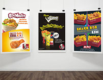 KFC various product campaigns