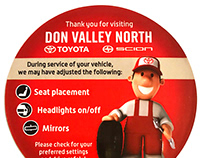 Service Department 'Customer Notification' Sticker