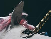 Unicorn sculpture