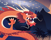 Silkroad Magazine cover illustration