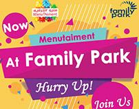 Menutainment + Family park campaign