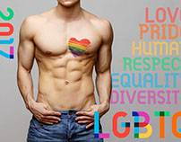 LQBTQ Poster with Gilbert Typeface #TypeWithPride