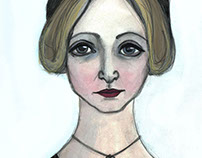 Anais Nin Literary Illustration