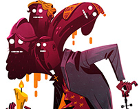 BOLIVIAN EXPRESS MAGAZINE: Editorial Illustrations