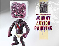 """Johnny Action Painting"" by Emilio Subirá"