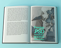 Free Hardcover Book Mockup #1