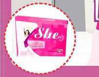 SHE sanitary napkin