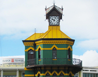 CLOCK TOWER GREEN & GOLD