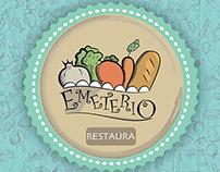 Diseño de menú y logotipo: Emeterio restaurante
