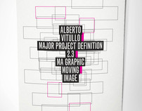 Major Project Definition Cover