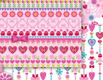 Kids Bedding Patterns // Girls