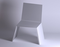 Stackable one piece injection moulded Chair