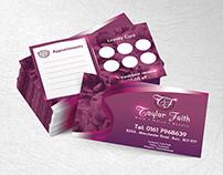 Taylor Faith beauty salon branding