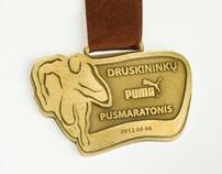 Participant's medal DRUSKININKAI PUMA HALF-MARATHON '12