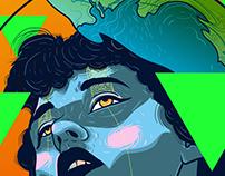 Vector Illustration - Into the deep sea of self
