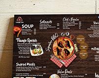 Menu Design - Triangle Cafe