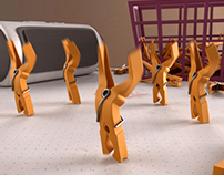 Dancing Clothespin (3D Animation)