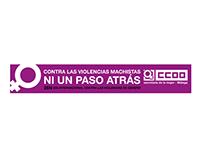 CCOO - Pancarta y banderola