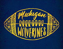 College Football Lettering