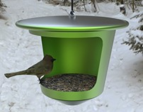Bird feeder - made of 100% recycled aluminum