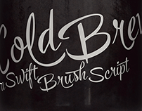 Cold Brew -lettering font family