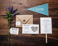 L+J Wedding Stationary Design