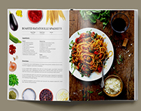 Cook Book Page Design