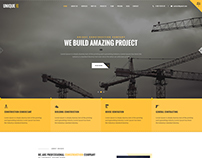 UNIQUE - Construction Company Multi Page PSD Template