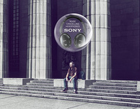 Sony Cancelling Headphones Press Campaign