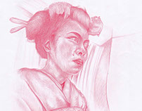Geisha woman quick sketch