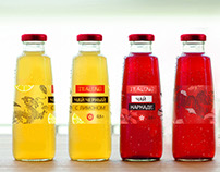 Tea label design