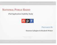 NPR IPad App-Usability Analysis