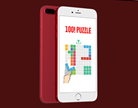 100! Puzzle UI mobile and video marketing