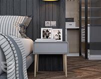 Modern Bedroom Interior 3dsMax Vray Scene