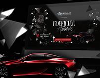 Lexus L'OFFICIEL awards web/graphic design